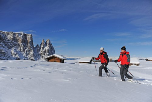Schneeschuhwandern im Schlerngebiet